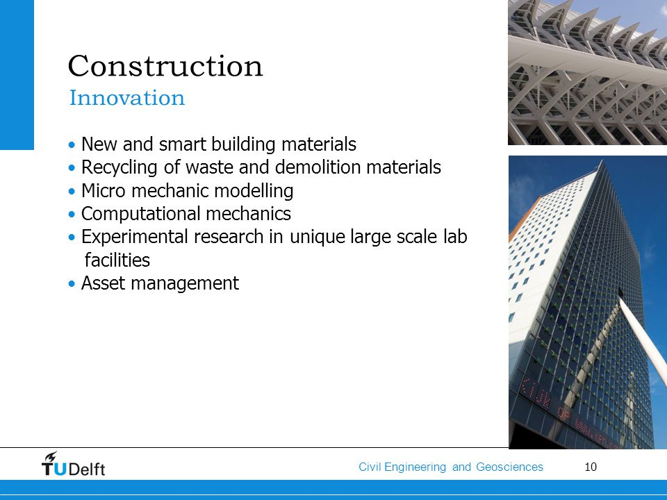 Construction Innovation New and smart building materials