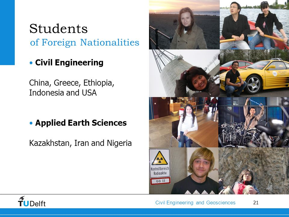 Students of Foreign Nationalities Civil Engineering