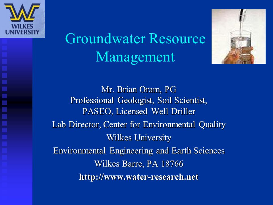 Groundwater Resource Management