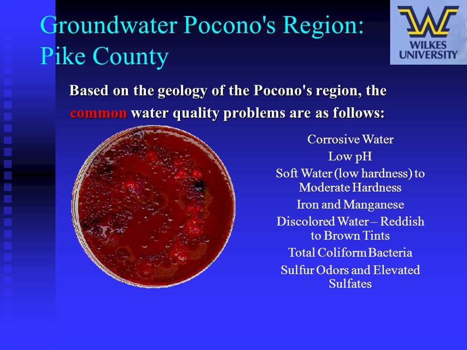 Groundwater Pocono s Region: Pike County
