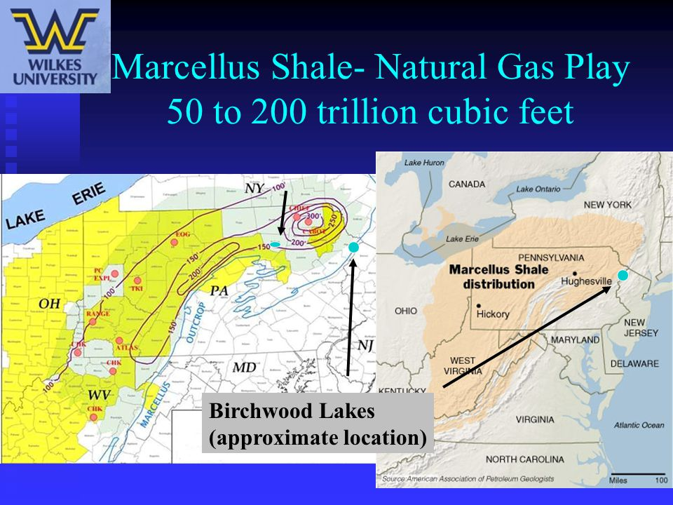 Marcellus Shale- Natural Gas Play 50 to 200 trillion cubic feet