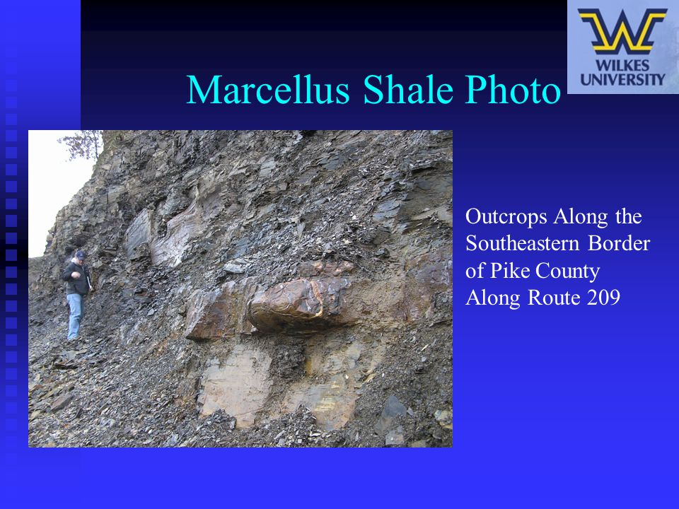 Marcellus Shale Photo Outcrops Along the Southeastern Border