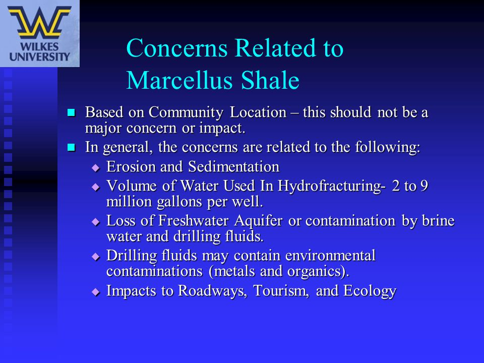 Concerns Related to Marcellus Shale
