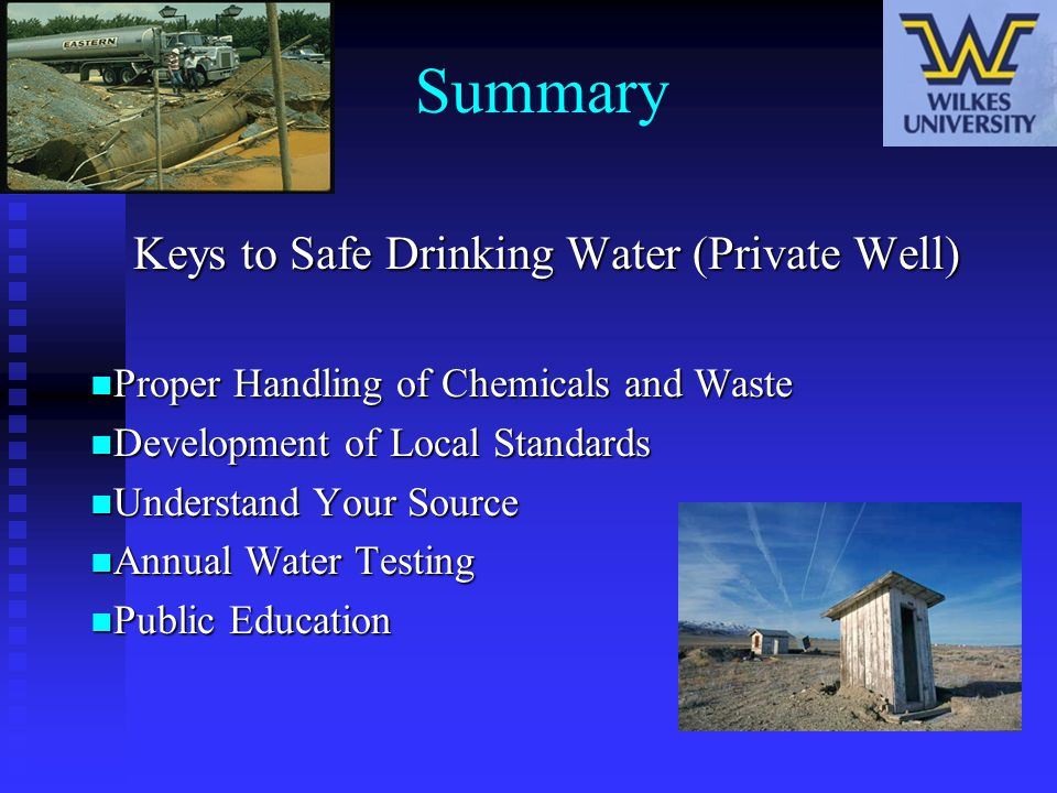 Keys to Safe Drinking Water (Private Well)