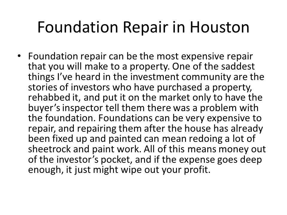 Foundation Repair in Houston