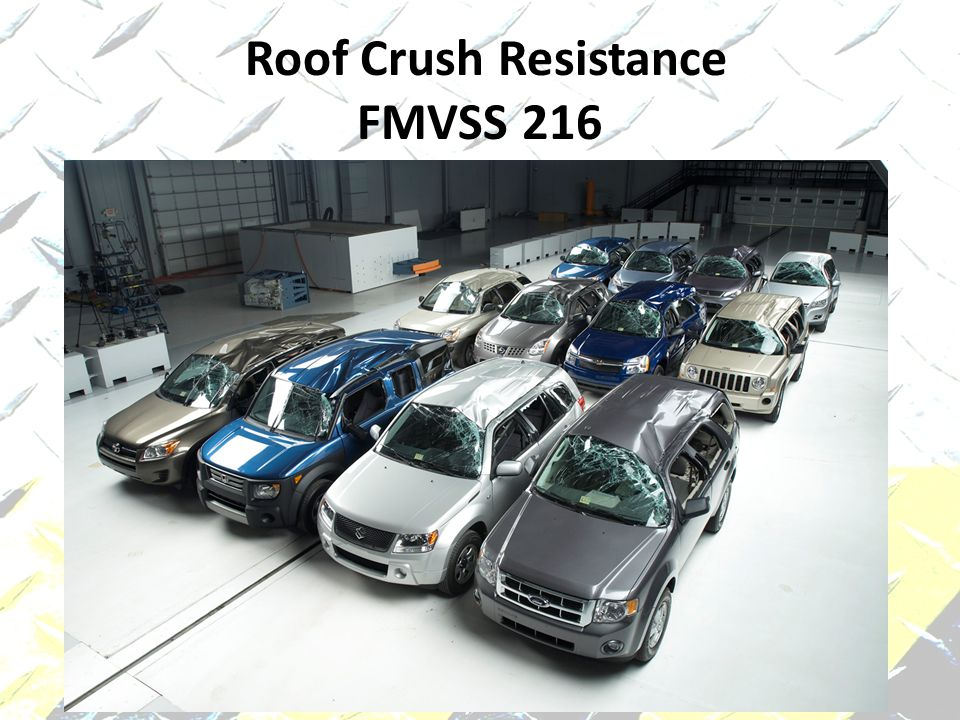 Roof Crush Resistance FMVSS 216