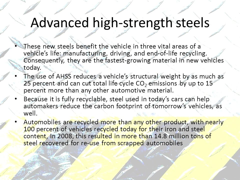Advanced high-strength steels