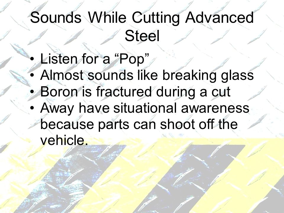 Sounds While Cutting Advanced Steel