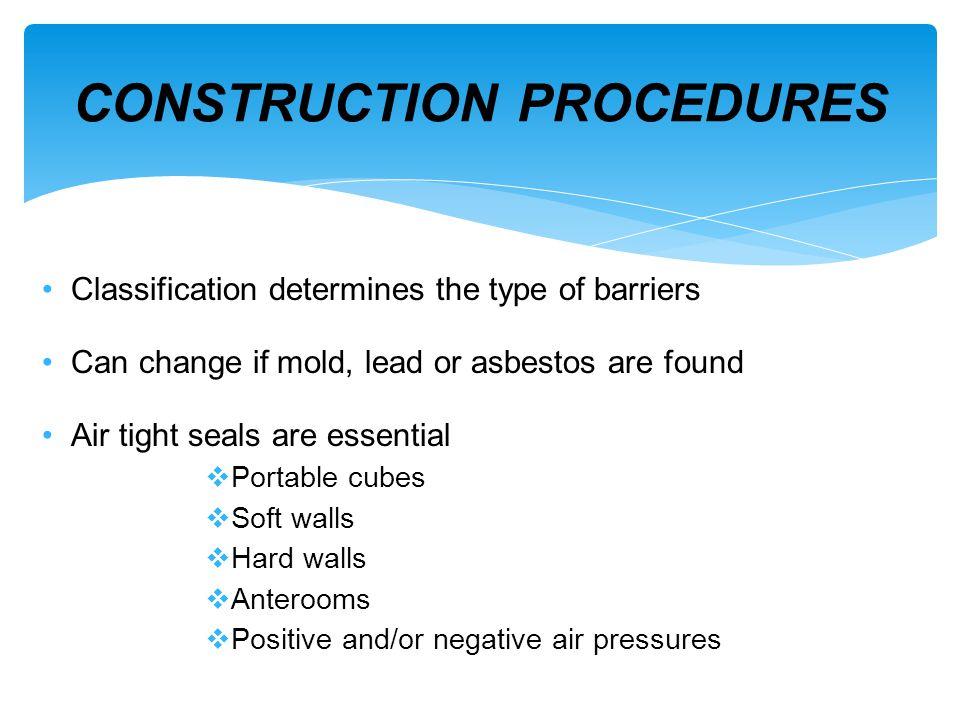 CONSTRUCTION PROCEDURES