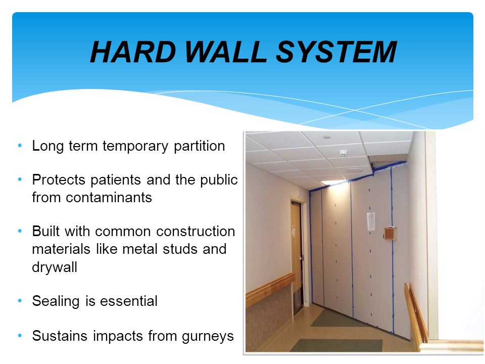 HARD WALL SYSTEM Long term temporary partition