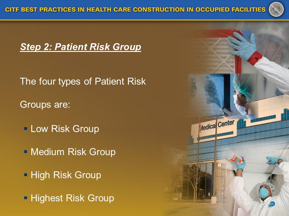 Step 2: Patient Risk Group