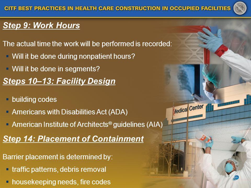 Steps 10–13: Facility Design
