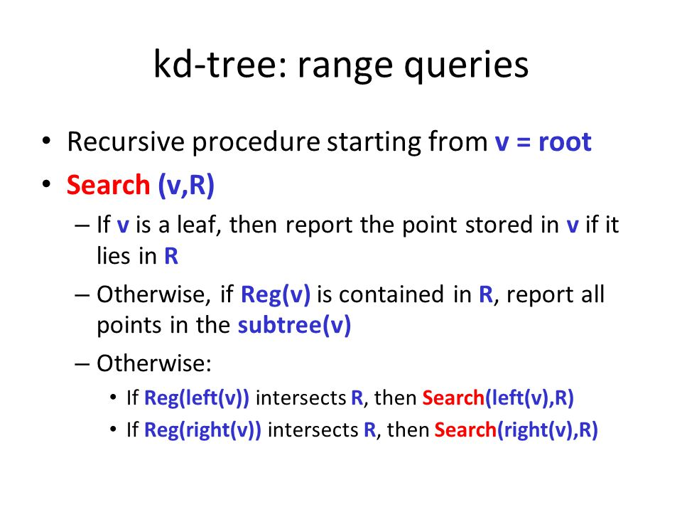 kd-tree: range queries