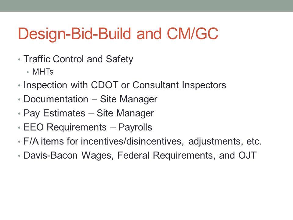 Design-Bid-Build and CM/GC