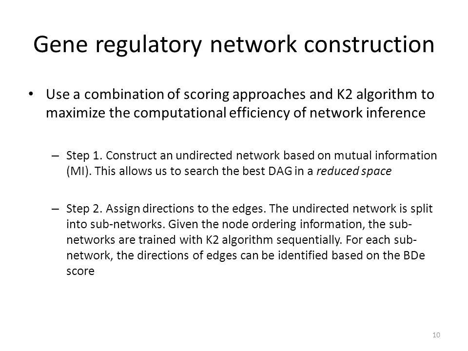 Gene regulatory network construction