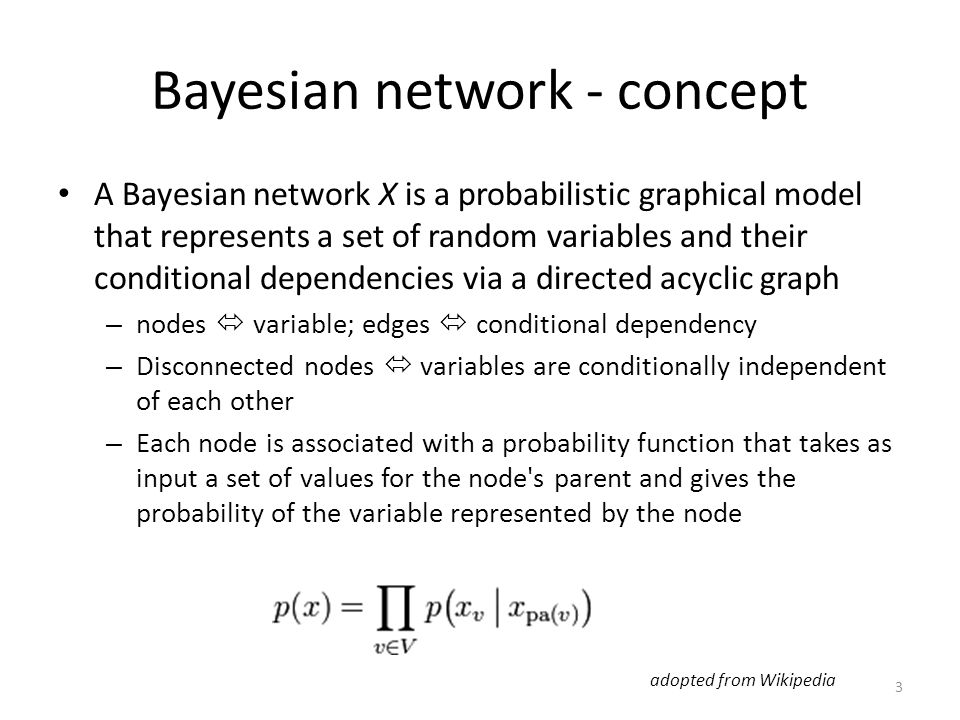 Bayesian network - concept