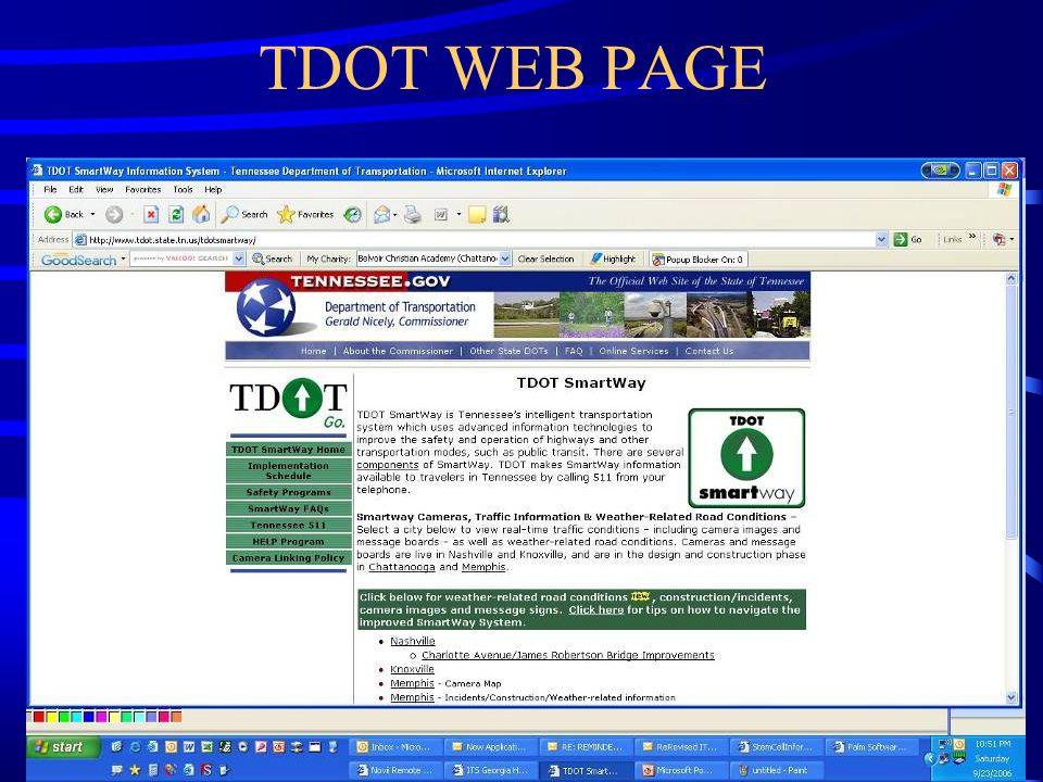 TDOT WEB PAGE
