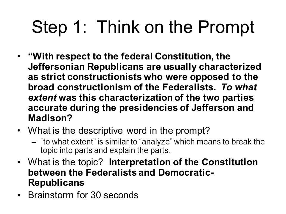 Step 1: Think on the Prompt