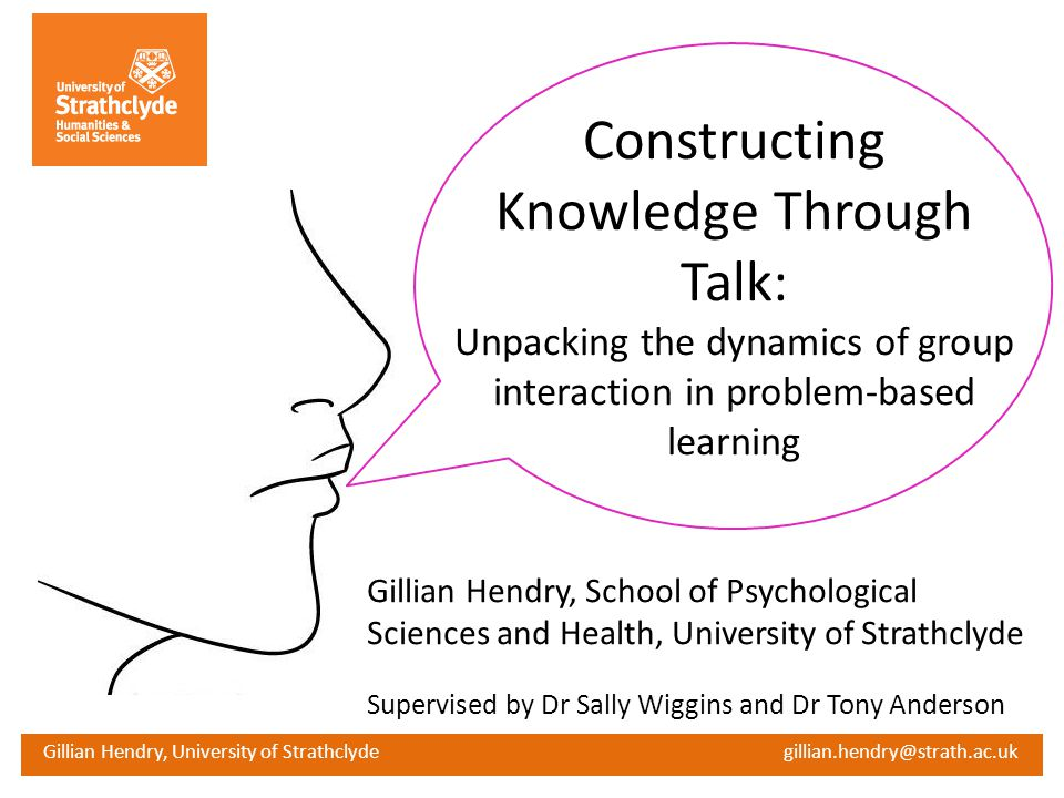 Constructing Knowledge Through Talk: