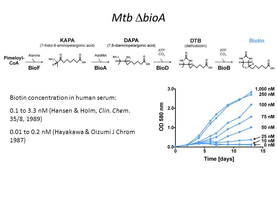 Mtb DbioA Biotin concentration in human serum: