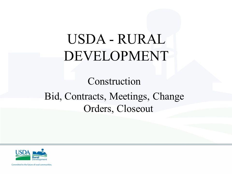 USDA - RURAL DEVELOPMENT