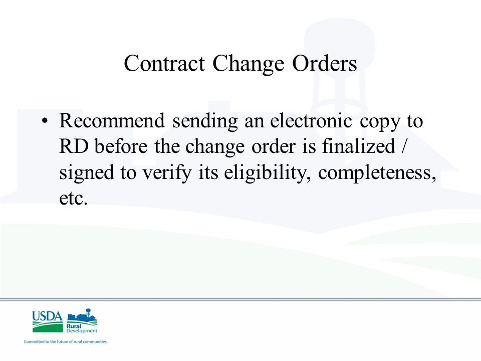 Contract Change Orders