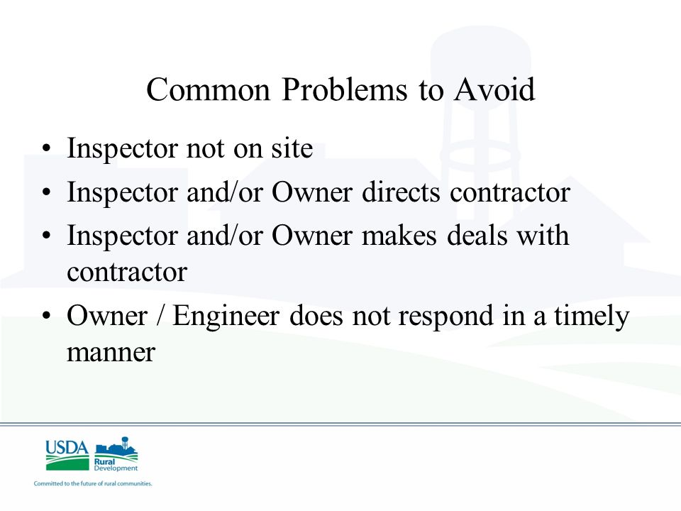 Common Problems to Avoid