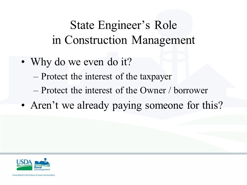 State Engineer's Role in Construction Management