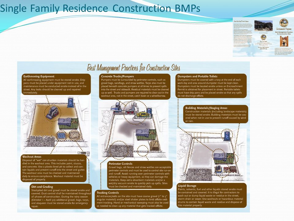 Single Family Residence Construction BMPs