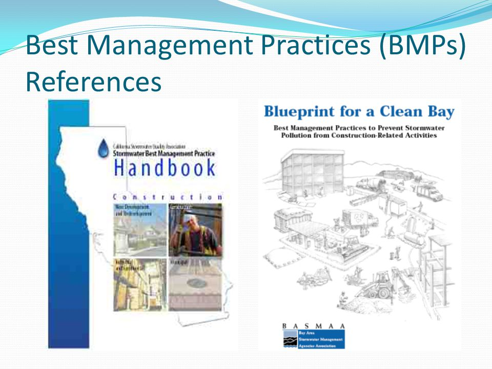 Best Management Practices (BMPs) References