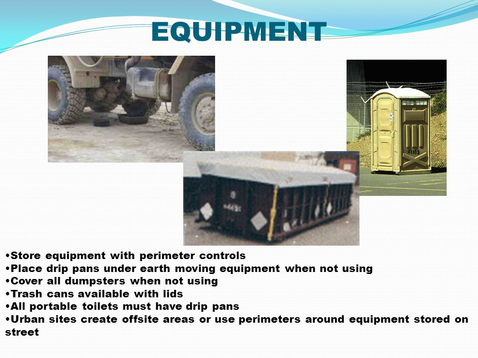 EQUIPMENT Store equipment with perimeter controls