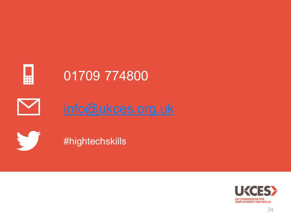 01709 774800 info@ukces.org.uk #hightechskills