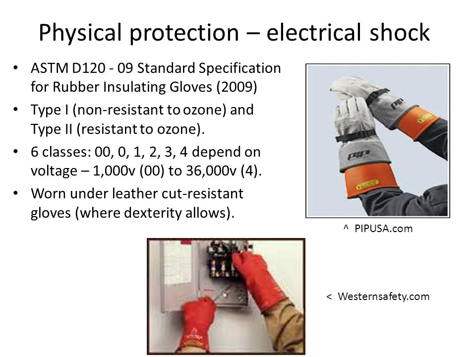 Physical protection – electrical shock