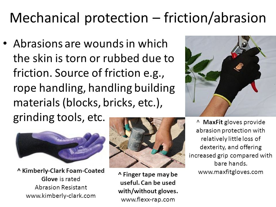 Mechanical protection – friction/abrasion