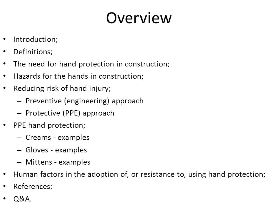 Overview Introduction; Definitions;