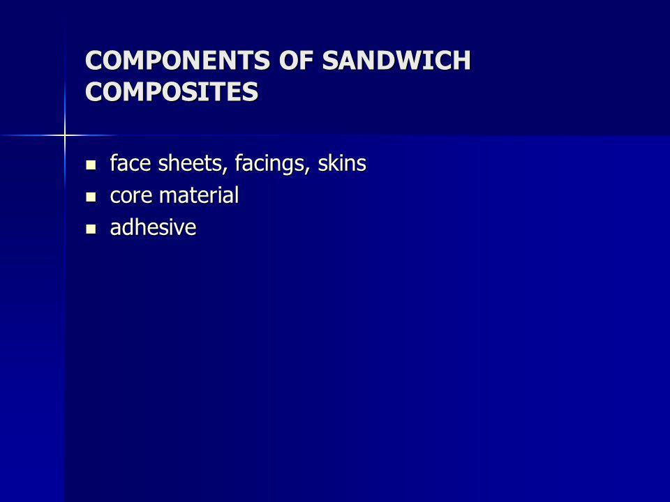 COMPONENTS OF SANDWICH COMPOSITES