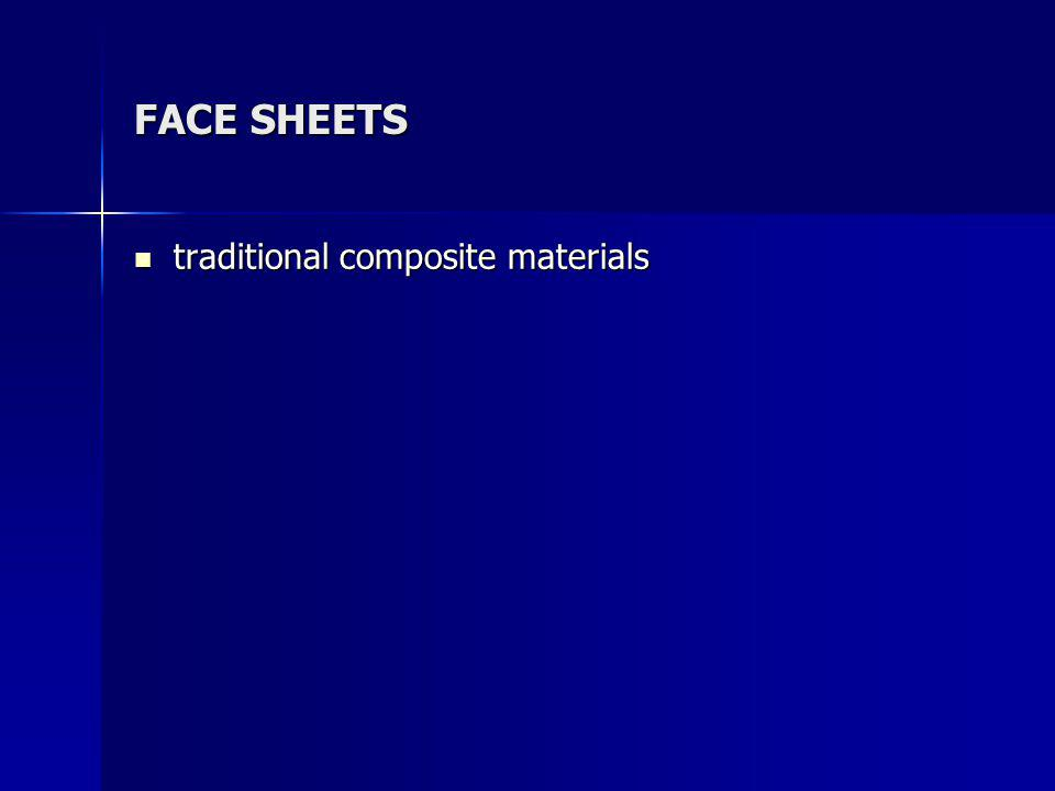 FACE SHEETS traditional composite materials