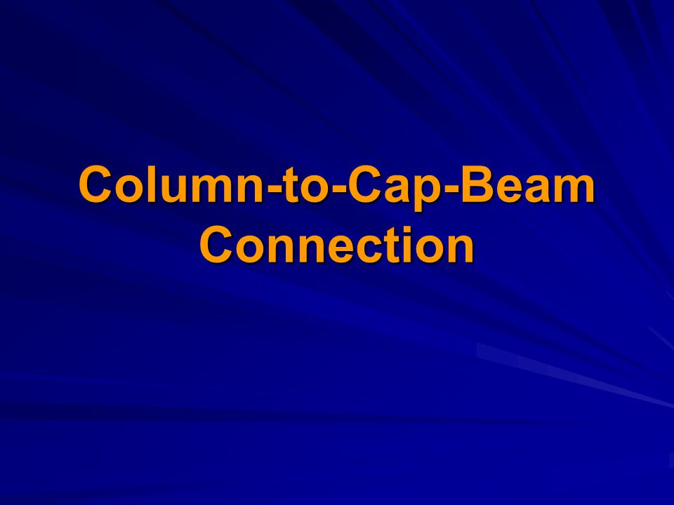 Column-to-Cap-Beam Connection