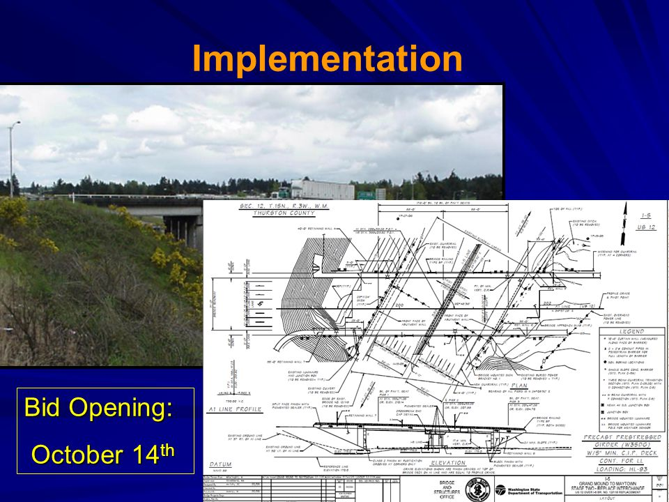 Implementation Bid Opening: October 14th