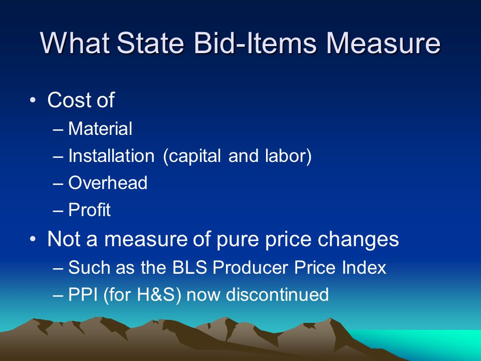 What State Bid-Items Measure