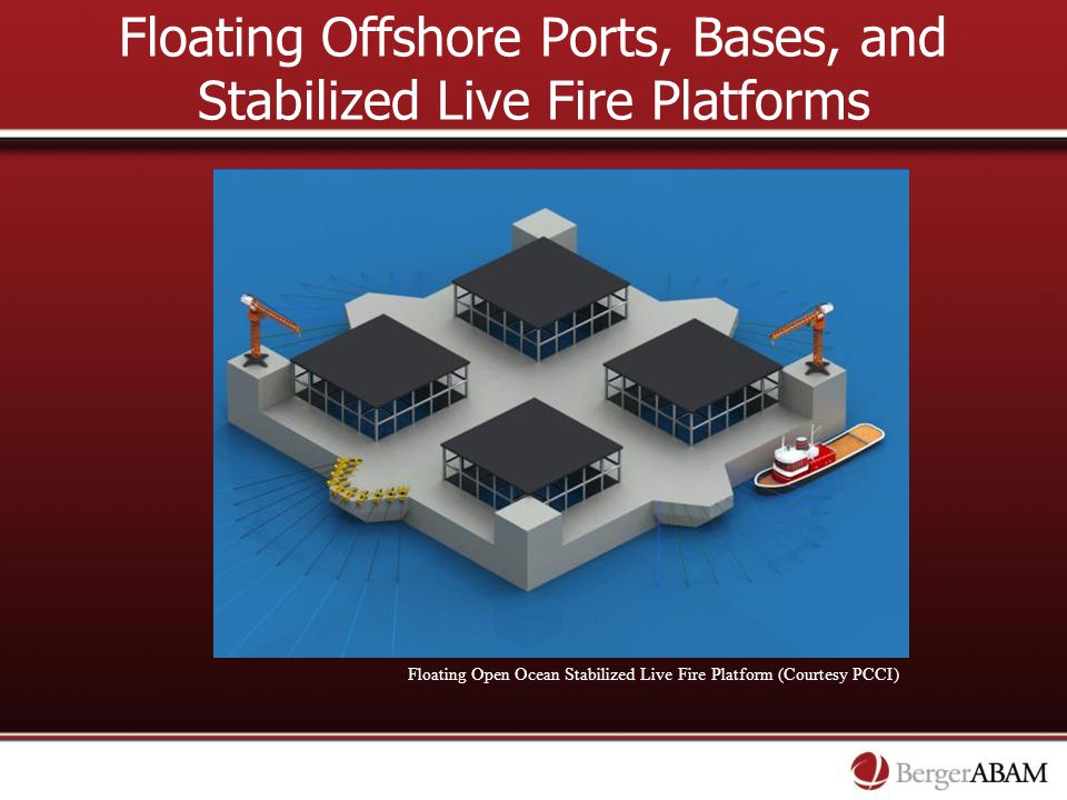Floating Offshore Ports, Bases, and Stabilized Live Fire Platforms