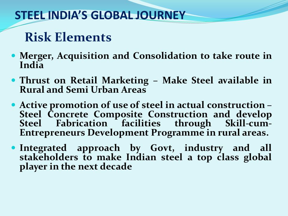STEEL INDIA'S GLOBAL JOURNEY