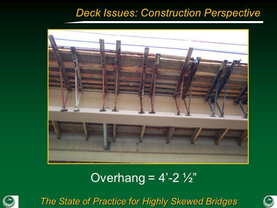 Overhang = 4'-2 ½