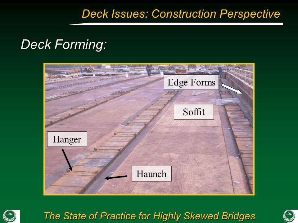 Deck Forming: Edge Forms Soffit Hanger Haunch