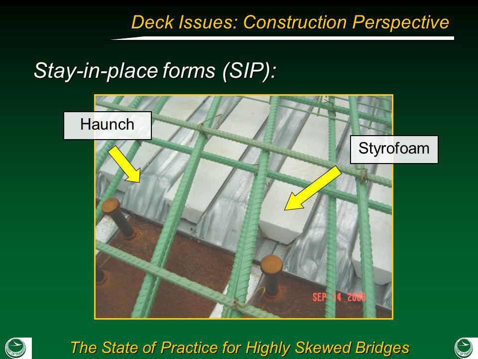 Stay-in-place forms (SIP):