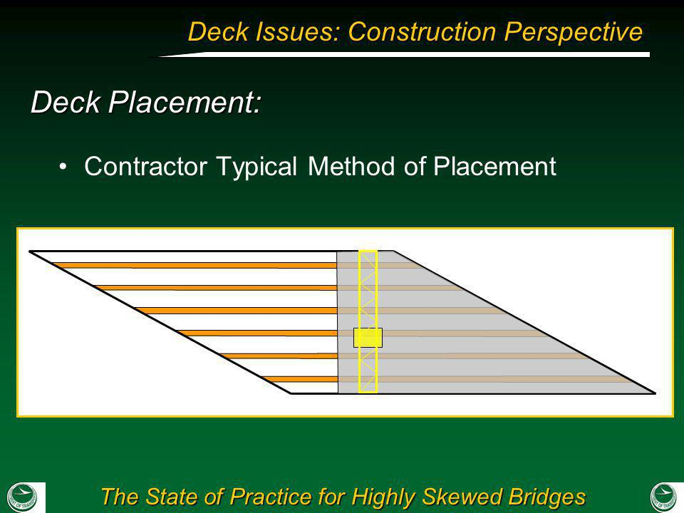 Deck Placement: Contractor Typical Method of Placement