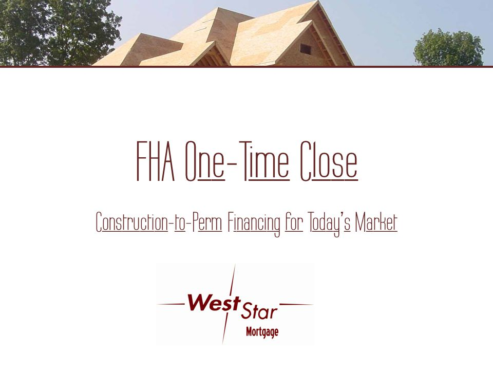 Construction-to-Perm Financing for Today's Market