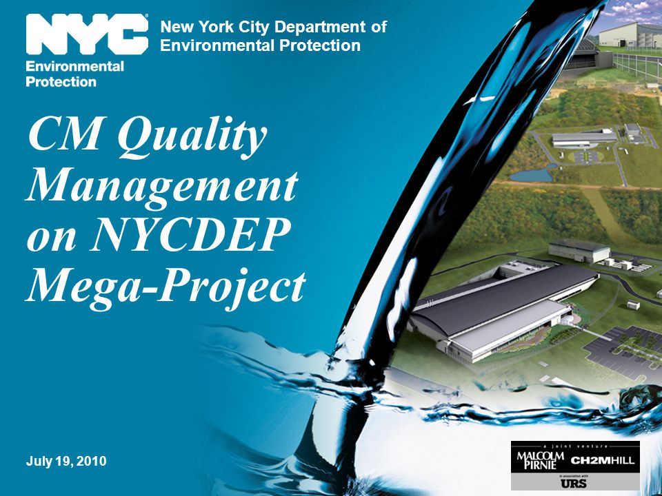 CM Quality Management on NYCDEP Mega-Project