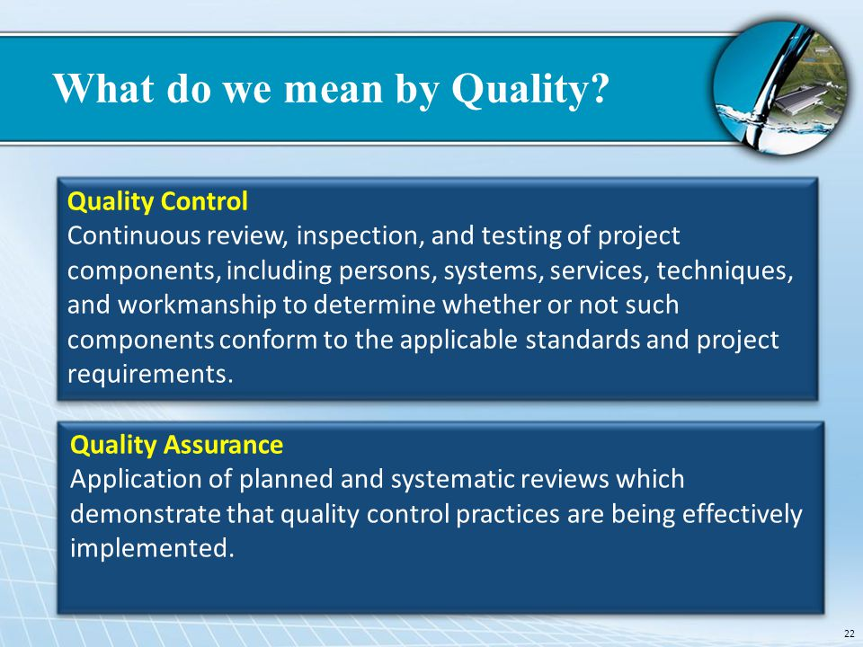 What do we mean by Quality