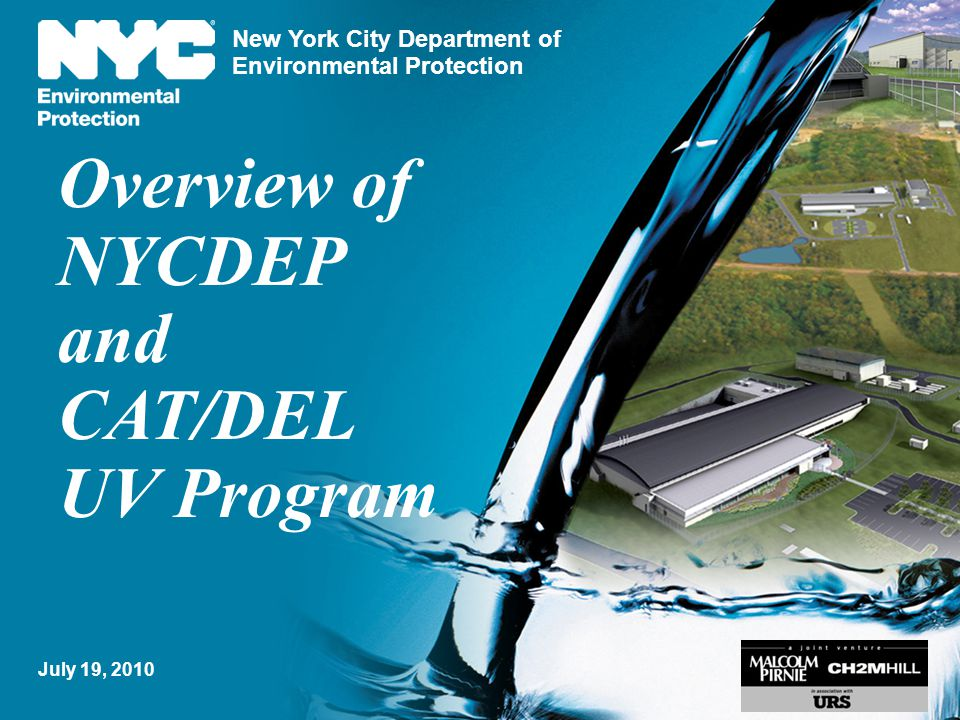 Overview of NYCDEP and CAT/DEL UV Program